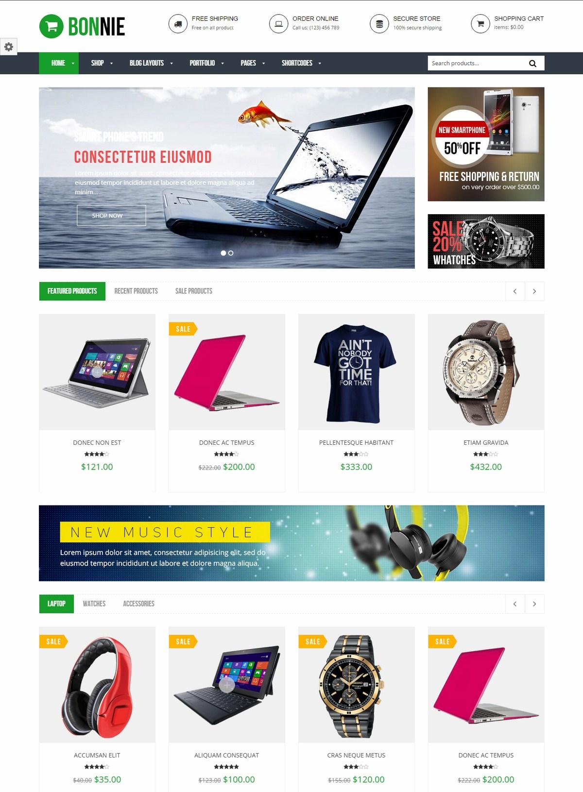 Mẫu Website bán hàng - VG Bonnie