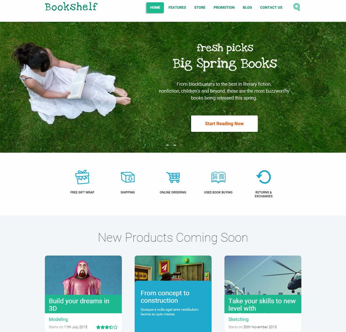 Mẫu Website bán hàng - BÁN SÁCH - Bookshelf