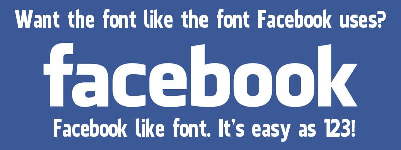 Font chữ facebook - yếu tố làm website trở nên đẹp hơn