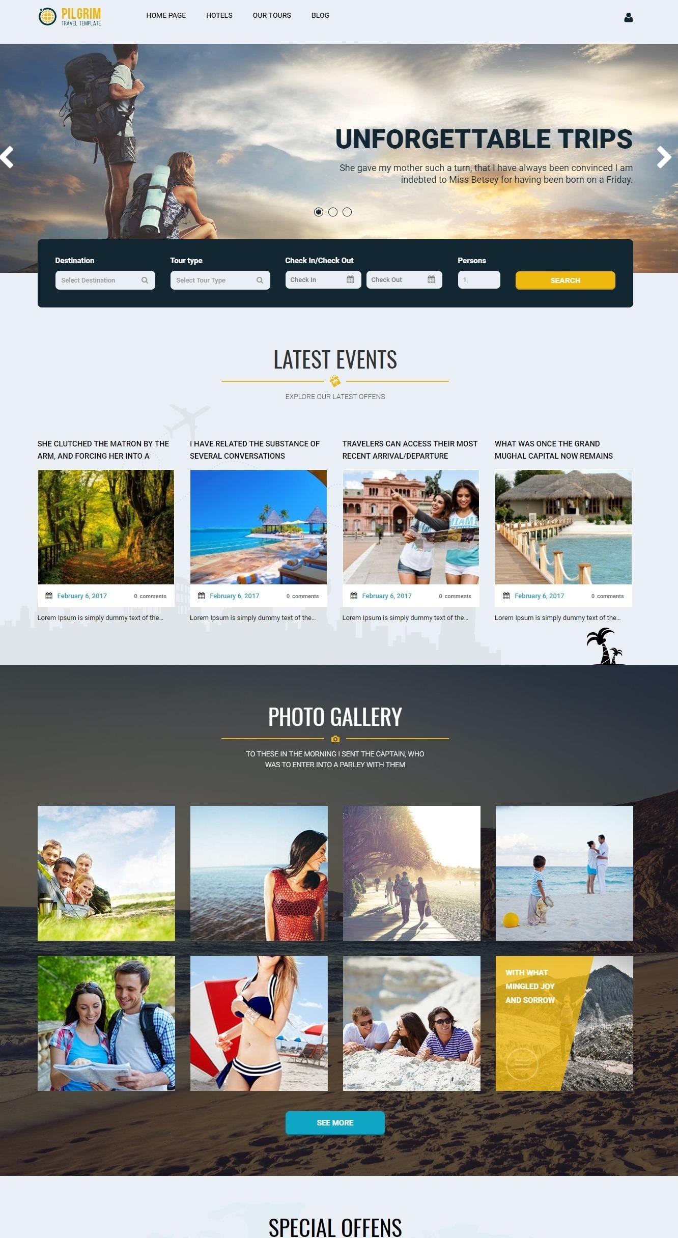 Mẫu giao diện website doanh nghiệp- dịch vụ du lịch