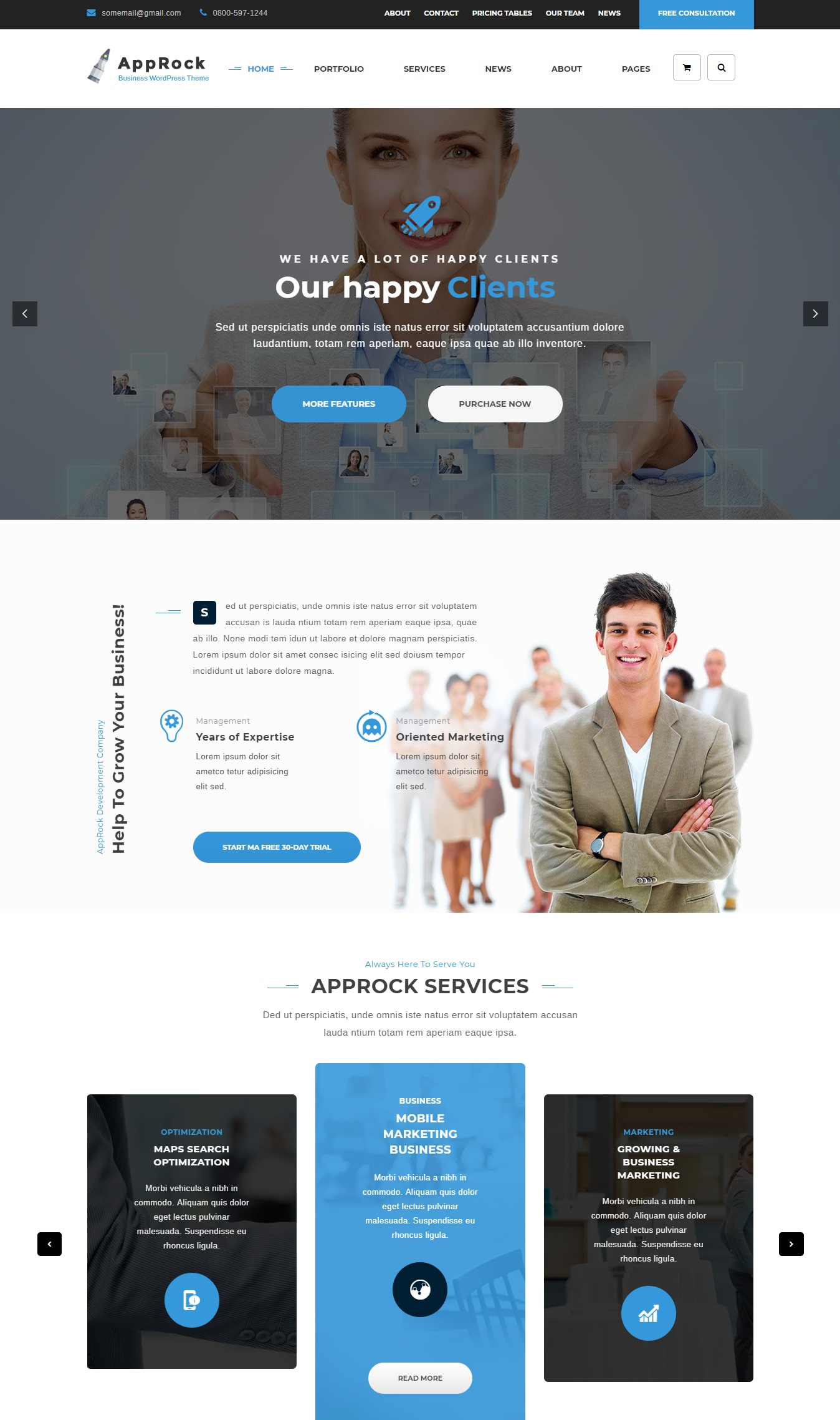 Mẫu website giới thiệu công ty-AppRock