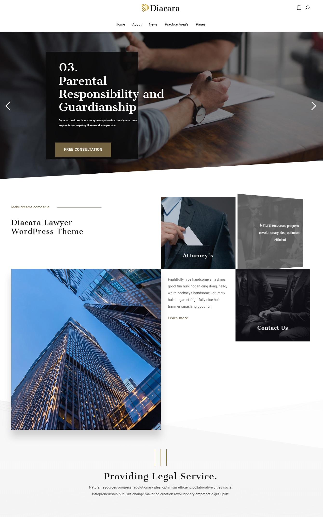 Mẫu website giới thiệu công ty-Diacara