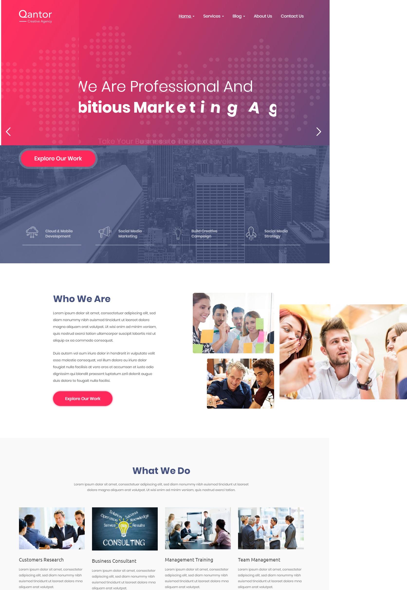 Mẫu website giới thiệu công ty-Qantor