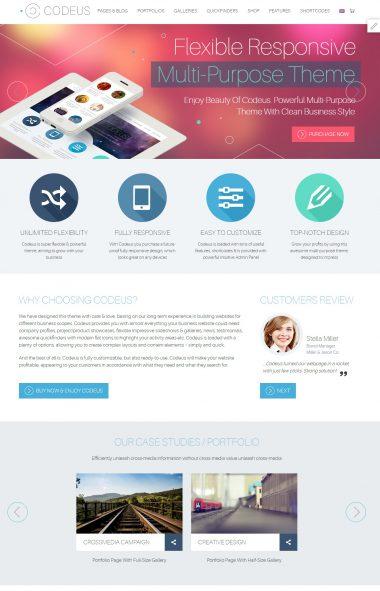 Mẫu website giới thiệu công ty-Codeus