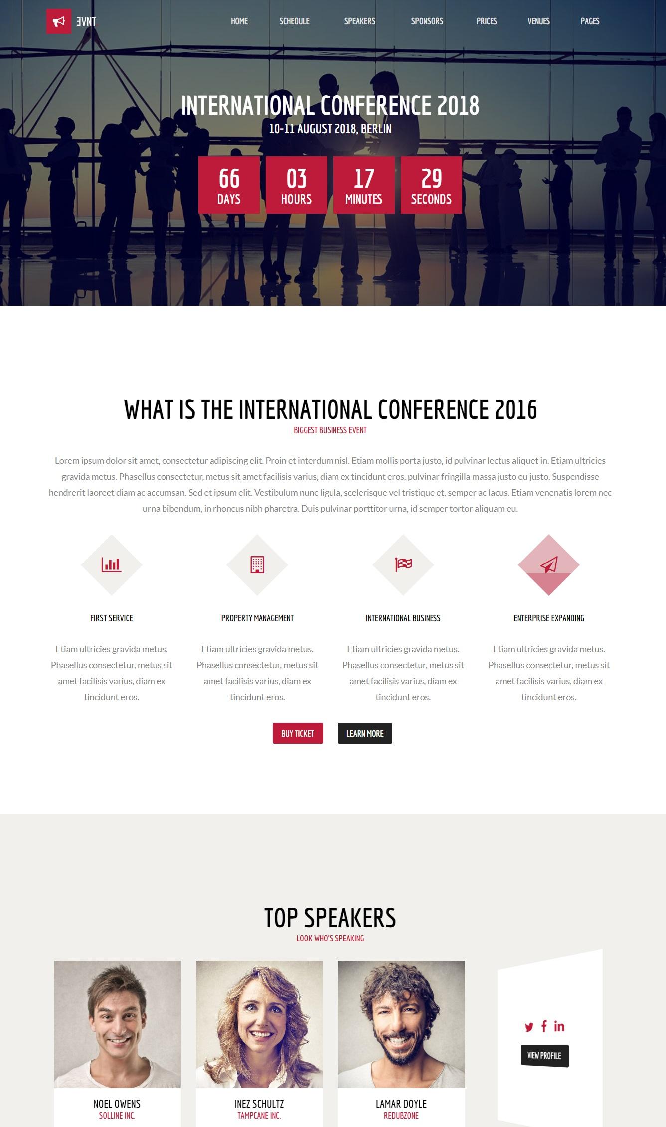 Mẫu website giới thiệu công ty-Evnt