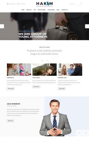 Mẫu website giới thiệu công ty-Hakim