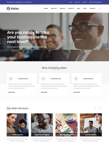 Website giới thiệu công ty- Abiko