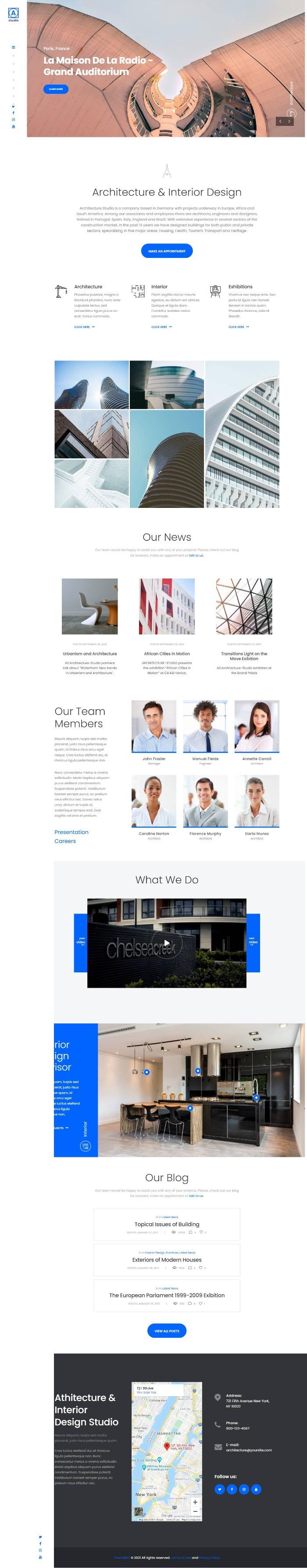 Mẫu Website Công Ty Thiết Kế Xây Dựng - A.Studio