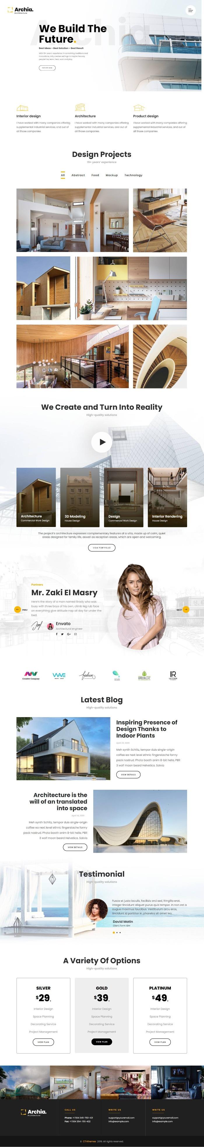 Mẫu Website Công Ty Xây Dựng - Archia
