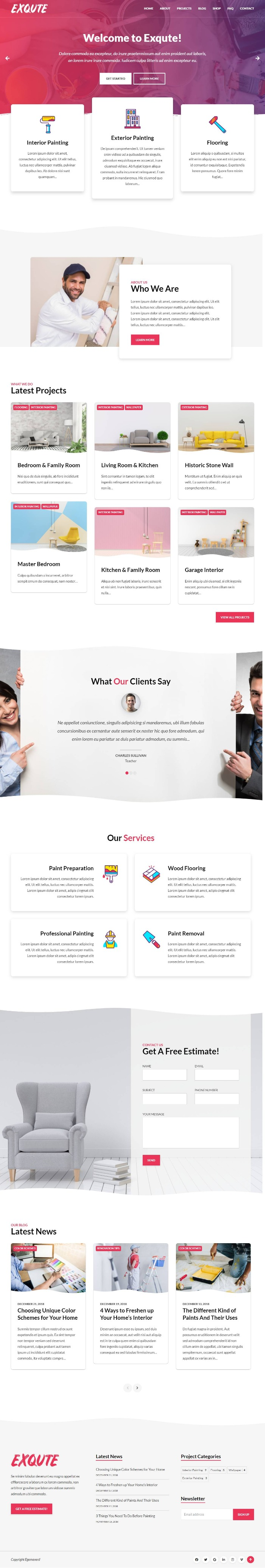 Mẫu Website Công Ty Xây Dựng - Exqute