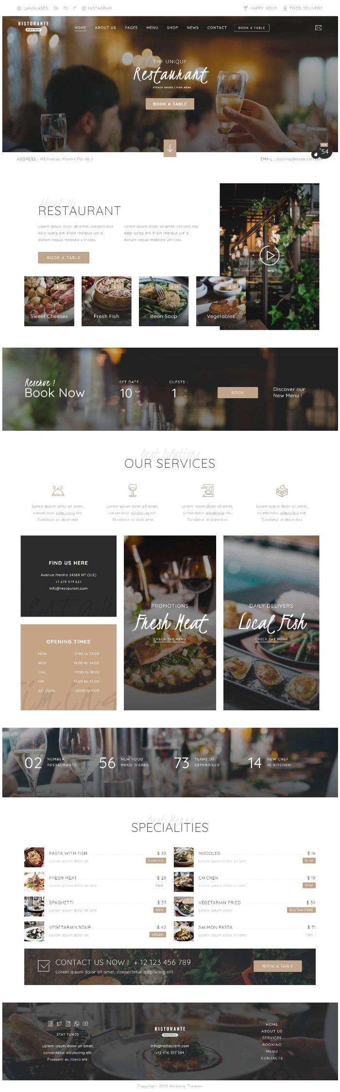 mau-website-nha-hang-ristorante