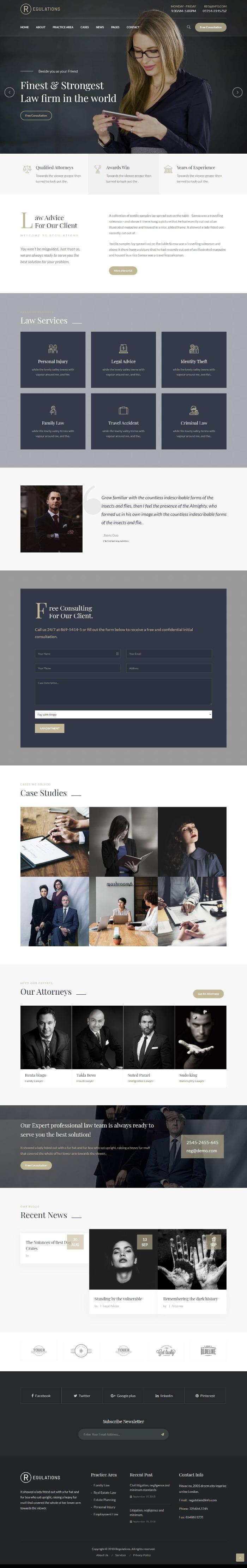 MẪU WEBSITE CÔNG TY LUẬT - REGULATIONS HOME 1